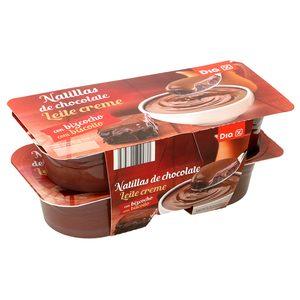 DIA natillas de chocolate con bizcocho pack 4 unidades 125 gr