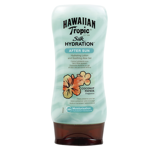 HAWAIIAN TROPIC loción hidratante silk after sun coconut bote 180 ml