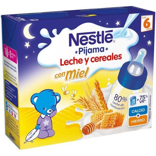 NESTLE papilla líquida 8 cereales con miel pack 2 unidades 250 ml
