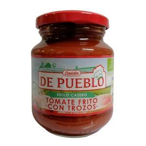 DE PUEBLO tomate frito con trozos estilo casero eco frasco 290 gr