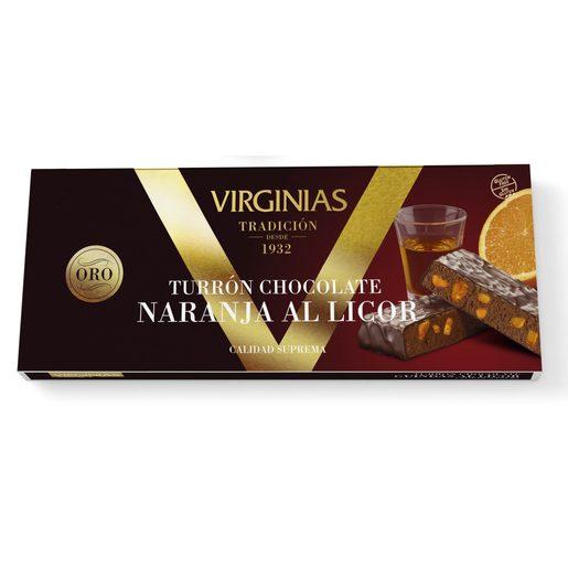 VIRGINIAS turrón de chocolate con naranja al licor estuche 200 gr