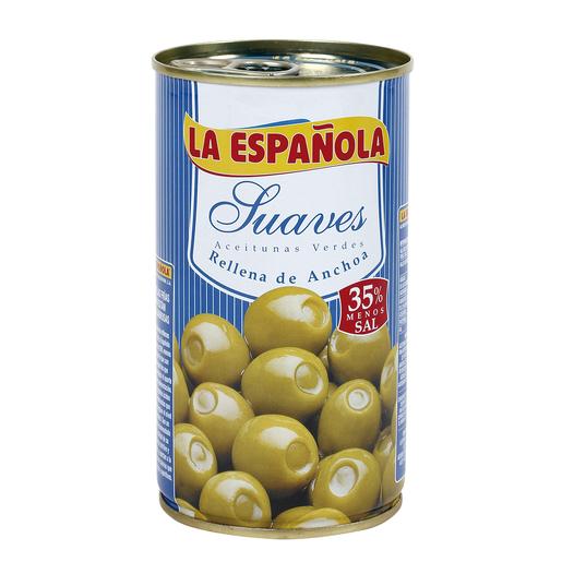 LA ESPAÑOLA aceitunas suaves rellenas de anchoa lata 150 gr