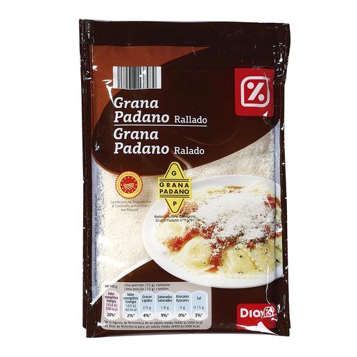 DIA queso rallado grana padano bolsa 100 gr