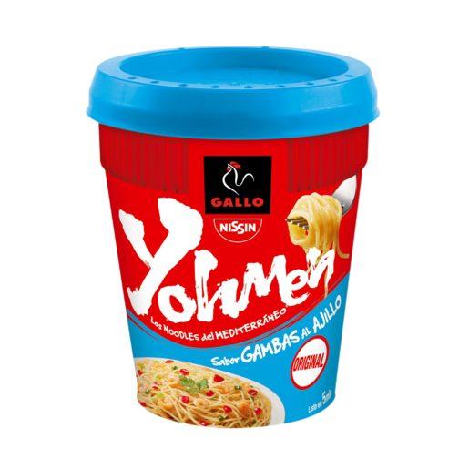 GALLO noodles fideos orientales yohmen sabor gambas al ajillo vaso 78 gr
