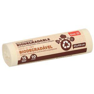 DIA bolsa de basura biodegradable 10 litros rollo 15 uds