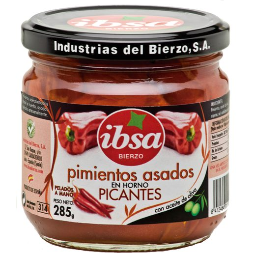 IBSA pimientos asados picantes frasco 285 gr