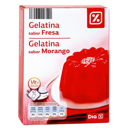 DIA gelatina sabor fresa caja 170 gr