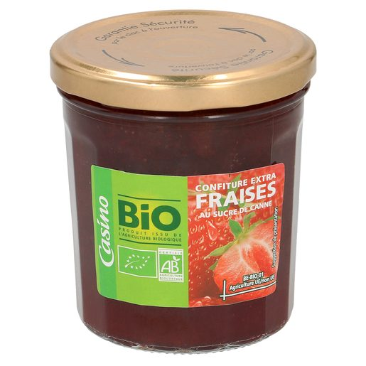 CASINO BIO mermelada de fresa frasco 360 gr