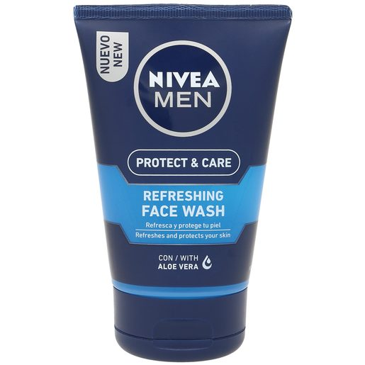 NIVEA Men gel limpiador refrescante protect & care tubo 100 ml
