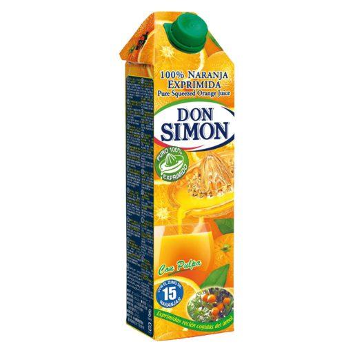 DON SIMON zumo de naranja exprimida con pulpa 1 lt