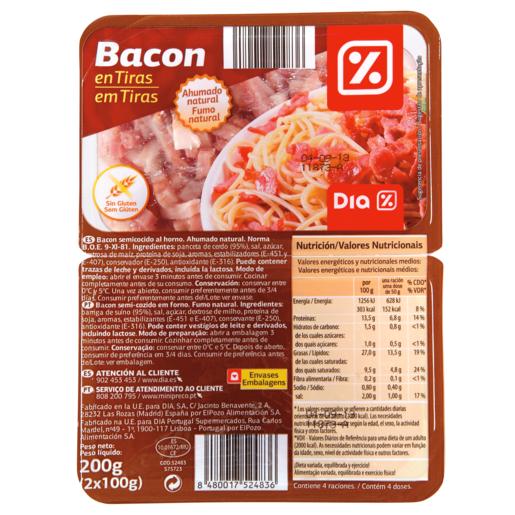 DIA tiras de bacon envase 2 x 100 gr