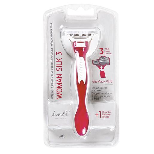 BONTE maquinilla de afeitar recargable 3 hojas mujer envase 1 ud