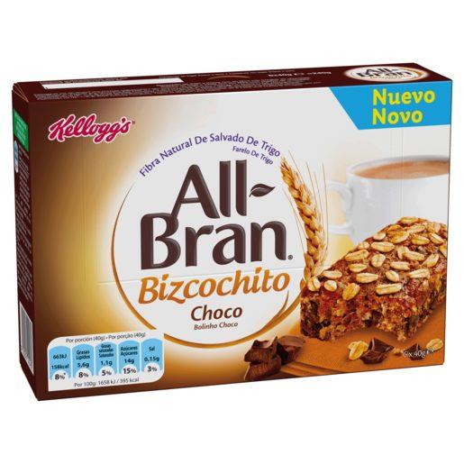 KELLOGGS bizcochito all-bran chocolate caja 240 gr
