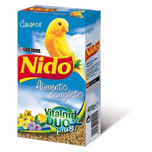 NIDO alimento completo vitalnid duo nº1 para canarios caja 400 gr