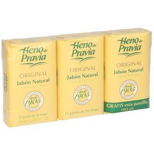 HENO DE PRAVIA jabón de manos original natural pack 2+1 gratis
