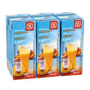 DIA néctar light melocotón pack 6 unidades 200 ml