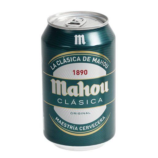 MAHOU CLASICA cerveza rubia nacional lata 33 cl