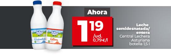 Oferta leche Asturiana en dia.es