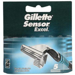 GILLETTE Sensor excel maquinilla de afeitar recambio blíster 5 uds