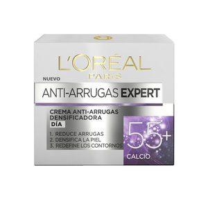 L'OREAL crema hidratante de día antiedad con calcio 55+ tarro 50 ml