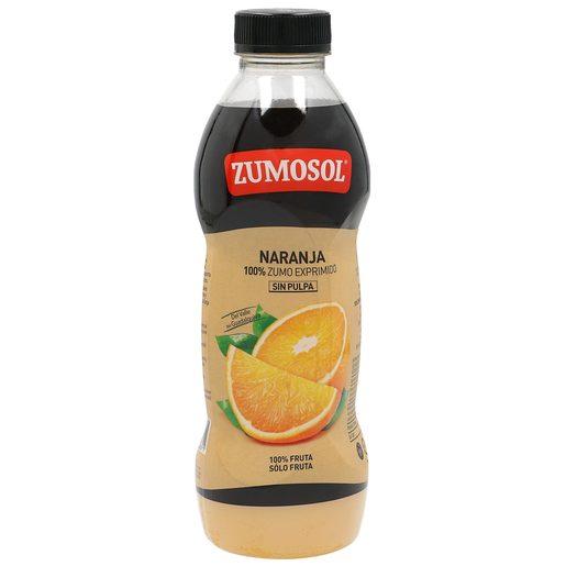 ZUMOSOL zumo de naranja sin pulpa botella 750 ml
