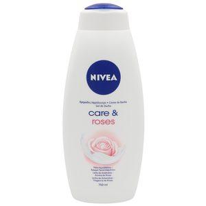 NIVEA gel de ducha care & roses bote 750 ml
