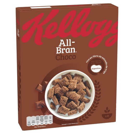 KELLOGGS cereales all-bran chocolate paquete 375 gr
