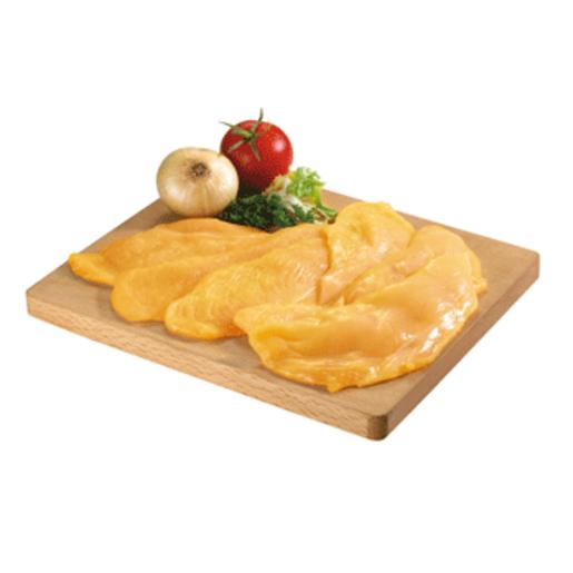 Filetes de pechuga de pollo amarillo extrafina bandeja (peso aprox. 650 gr)