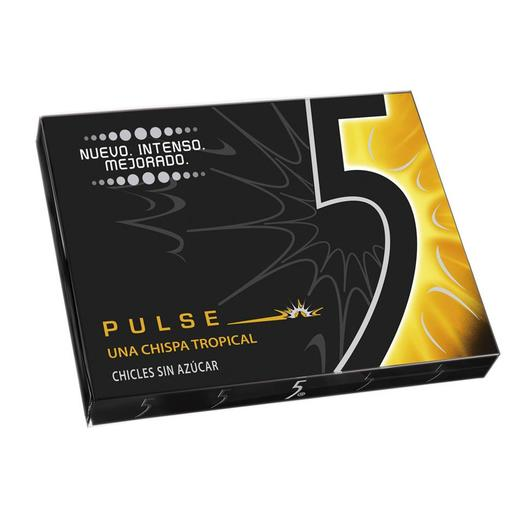 FIVE chicle pulse sabor tropical paquete 1 ud