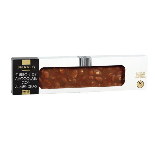 DIA DELICIOUS turrón de chocolate con almendras estuche 220 gr