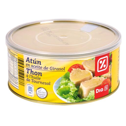 DIA atún en aceite de girasol lata 650 gr