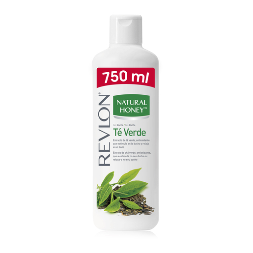 NATURAL HONEY gel de baño te verde botella 750 ml
