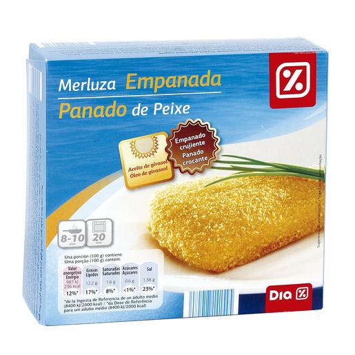 DIA filetes de merluza empanados caja 400 gr