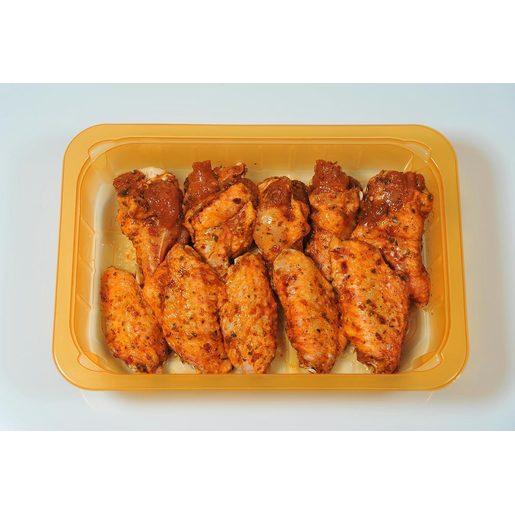 Alitas de pollo partidas y adobadas bandeja (peso aprox. 540 gr)