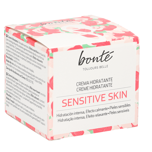 BONTE crema facial de día hidratante piel sensible tarro 50 ml