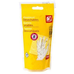 DIA guantes desechables de látex talla 8 bolsa 10 uds