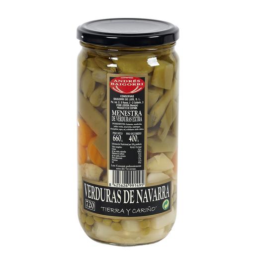 BAIGORRI menestra de verduras extra frasco 400 gr