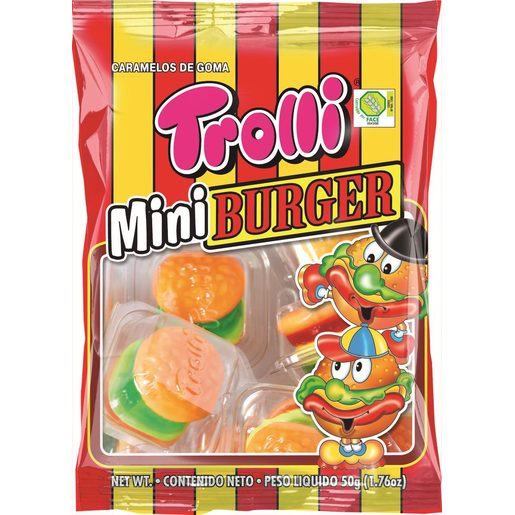 TROLLI golosinas mini burger bolsa 50 gr