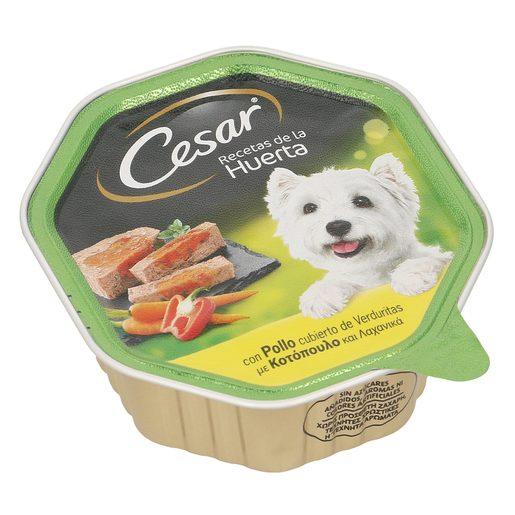 CESAR Selección de la huerta alimento para perros con pollo tarrina 150 gr