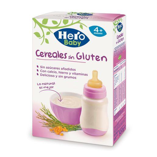 HERO Baby natur papilla cereales sin gluten caja 500 gr