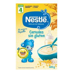 NESTLE papilla de cereales SIN GLUTEN caja 600 gr