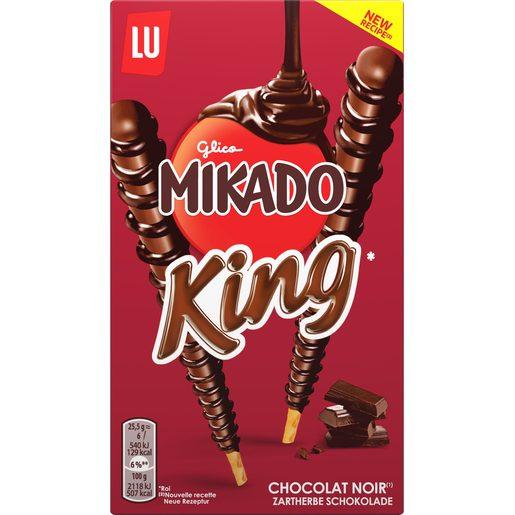 LU Mikado king palitos de galleta recubiertos de chocolate negro caja 51 gr