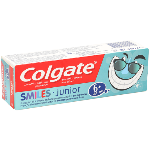 COLGATE pasta dentífrica smiles junior +6 años tubo 50 ml