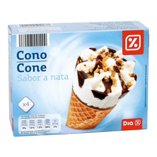 DIA helado cono nata caja 4 uds 252 gr