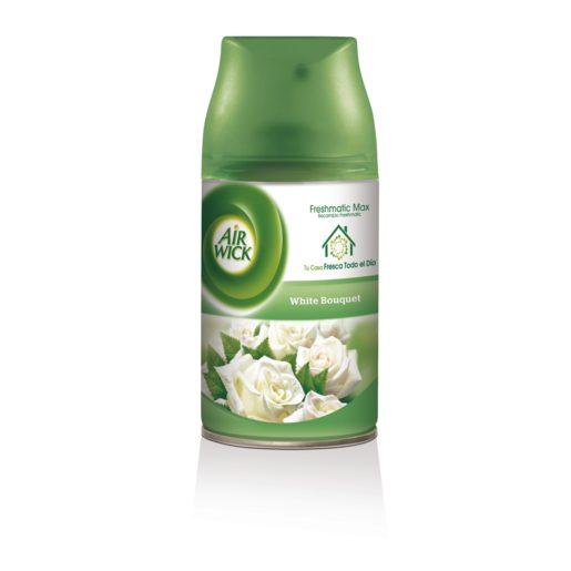 AIRWICK ambientador automático fresh matic white bouquet recambio 1 ud