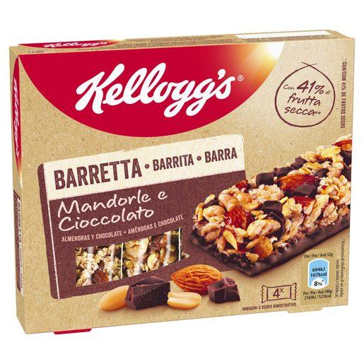 KELLOGGS barrita de cereales almendras y chocolate caja 128 gr