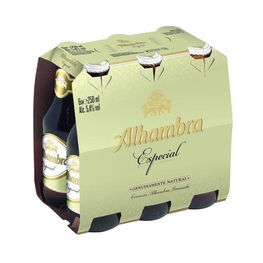 ALHAMBRA cerveza especial pack 6 botellas 25 cl