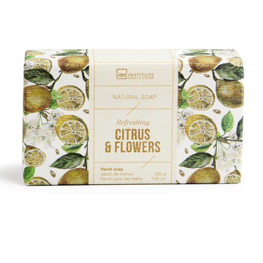 IDC INSTITUTE jabón de manos limón y flores pastilla 200 gr