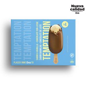 DIA TEMPTATION helado bombón classic caja 4 uds 360 gr