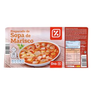 DIA preparado sopa de marisco envase 400 gr